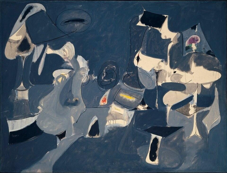 """""""@evacruciani: La soffice notte di Arshile Gorky, 1947 (b.15 Aprile,1904 - morto per amore nel 1948"""""""